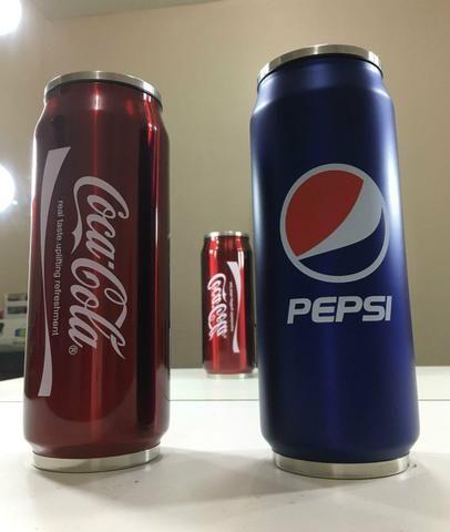 Garrafa térmica Coca-Cola e Pepsi