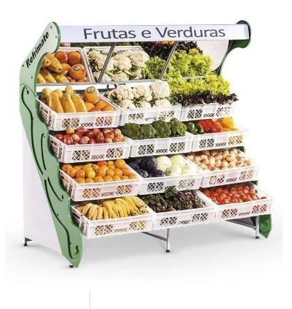 Fruteira de parede espelhada Refrimate para frutas e legumes 12 cxs Nova Frete Grátis