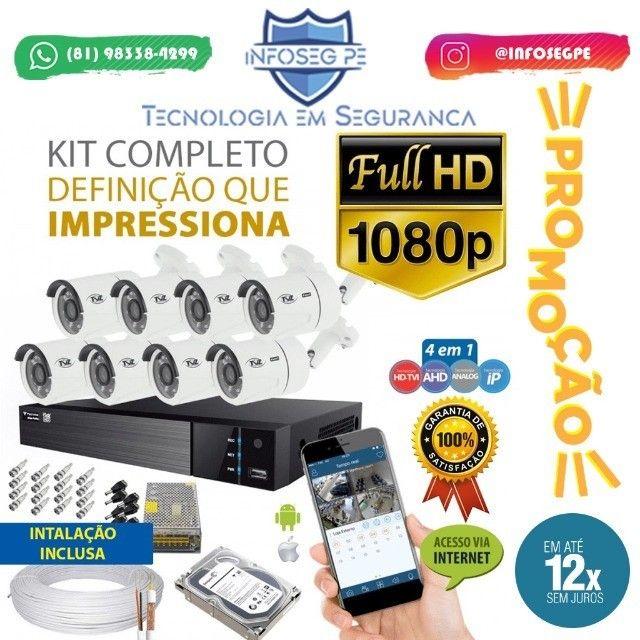Promoção 8 Câmeras Full Hd 12x de R$ 229,90 Sem Juros (Brinde Microfone Espião)