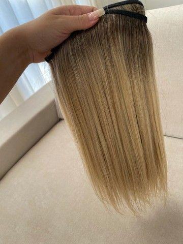Mega hair loiro na micro emborrachada 3 telas - Foto 2