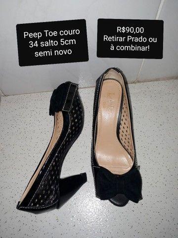 Sapatos couro semi novos 34 - Foto 5
