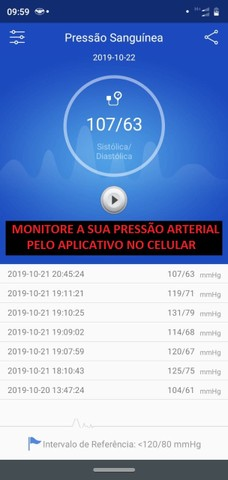 Smartband Relógio Pulseira Função App Celular M3 - Foto 5