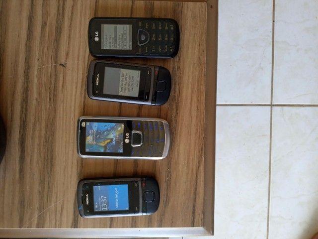 Vendo celulares funcionando.