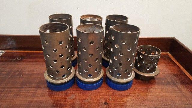 """Tubos de aço inox para fundição 3"""" X 18cm"""
