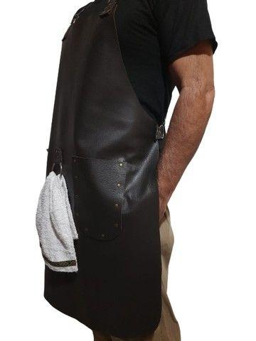 Avental de couro com alças reguláveis - Foto 2