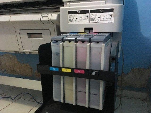 Impressora para sublimação Plotter Epson Surecolor Série F6070 Sublimática Seminova - Foto 6