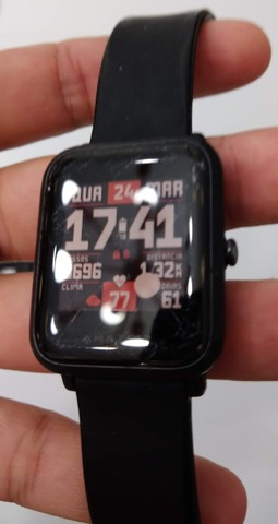 Relógio Smartwatch Amazfit Bip A1608 Onyx Black Original - Foto 5