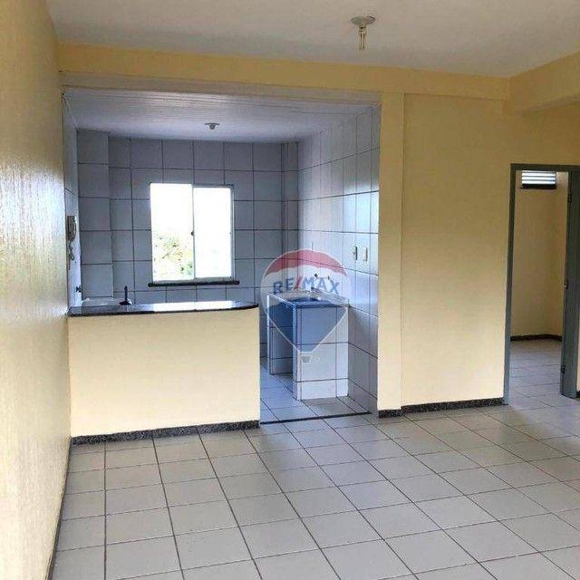 Apartamento com 2 dormitórios para alugar, 46 m² por R$ 750,00/mês - Edson Queiroz - Forta - Foto 3