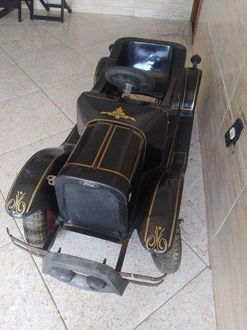 Carrinho de pedal infantil.   Antigo de fibra  - Foto 3