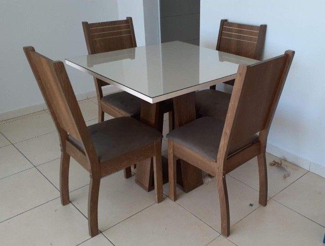 Mesa de Jantar 4 Cadeiras Civik -- Entrega e montagem Na Hora