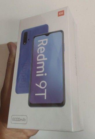 Redmi 9T 64 GB Bateria 6000 mAh Cinza/Azul  - Foto 3