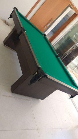 Mesa de Bilhar Encanto Imbuia Tecido Verde Modelo POQ0221 - Foto 3