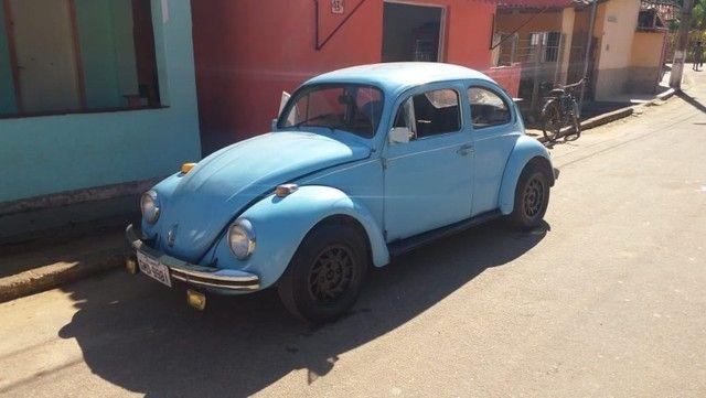 Fusca Azul motor 1500 ano 77