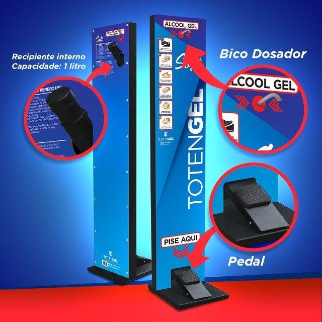 Totem Gel Pedal - Display Para Alcool Gel Higienizador Mãos - Linha Soft - Foto 6