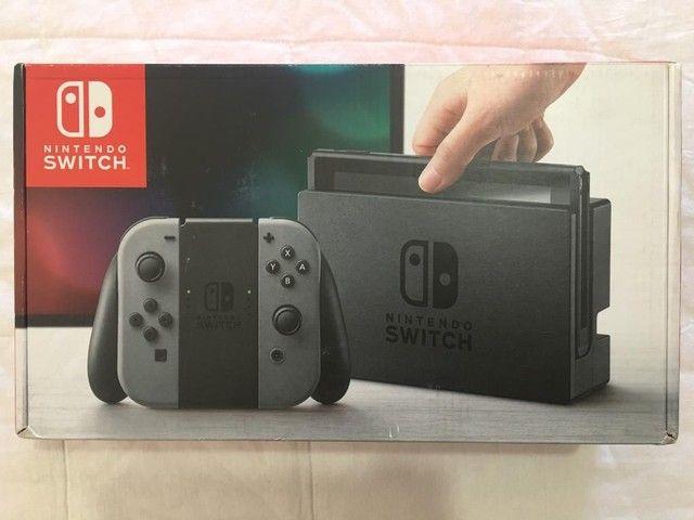 Caixa vazia de Nintendo Switch 1a versão