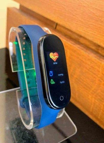 Smartband m5 monitoramento: calorias, pressão e batimentos  - Foto 6