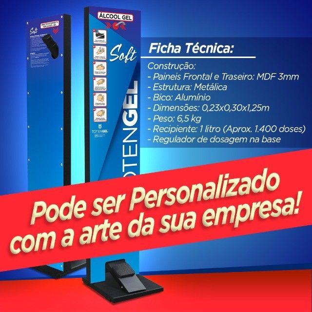 Totem Gel Pedal - Display Para Alcool Gel Higienizador Mãos - Linha Soft - Foto 4