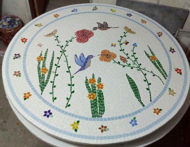Passarinho, arara, borboleta, jardim, flor, planta mosaico - Foto 5