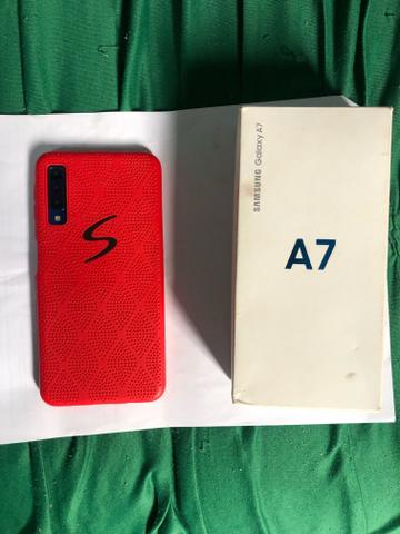 Samsung A7 64GB 2018 comprado a 8 meses só - Foto 2