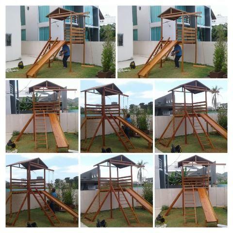 Parquinhos de madeira em Promoção - Foto 4