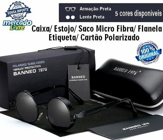 3040a16d60532 Óculos de Sol Redondo Steampunk Retrô + Brinde. Entregamos ...