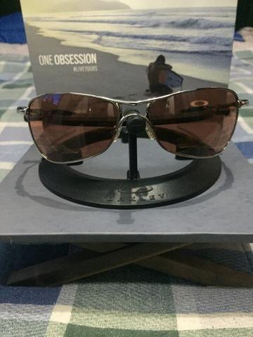 Óculos Oakley Crosshair Chrome Lente Vr28 Black Iridium Prata Único ... 9c183d0f22