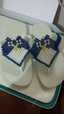 f4e5aef2d Sandálias Decoradas com perolas e miçangas - Roupas e calçados ...