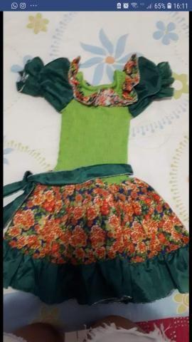 Vestido quadrilha Tam 4-6 anos
