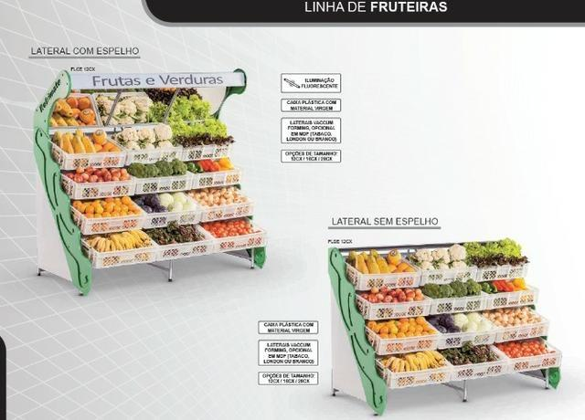 Fruteira de parede espelhada Refrimate para frutas e legumes 12 cxs Nova Frete Grátis - Foto 2