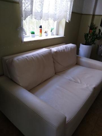 Sofá em couro branco - Móveis - Jurujuba, Niterói ...