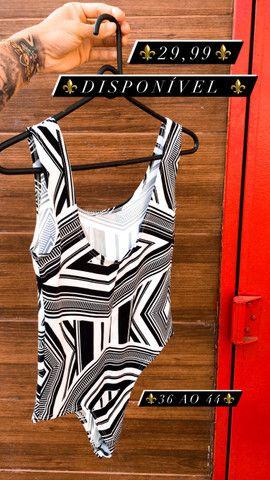 ?Body ? Suplex preto com branco - Foto 2