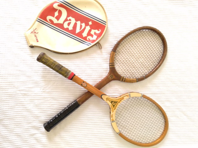 Raquete antiguidade Davis Raquete Tênis antiga - Foto 2