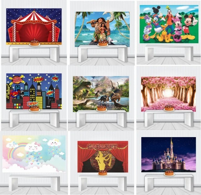 Painel Em Lona ou Adesivo para Festa diversos tema a sua escolha e tamanho - Foto 6