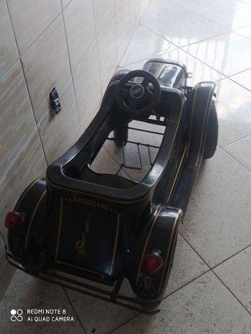 Carrinho de pedal infantil.   Antigo de fibra  - Foto 4