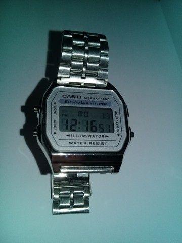 Relógio Casio-illuminator-prata-unissex-promocional - Foto 3