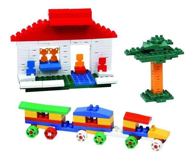 Brinquedo educativo pedagógico 1000 pecas tipo lego estimulante de criatividade
