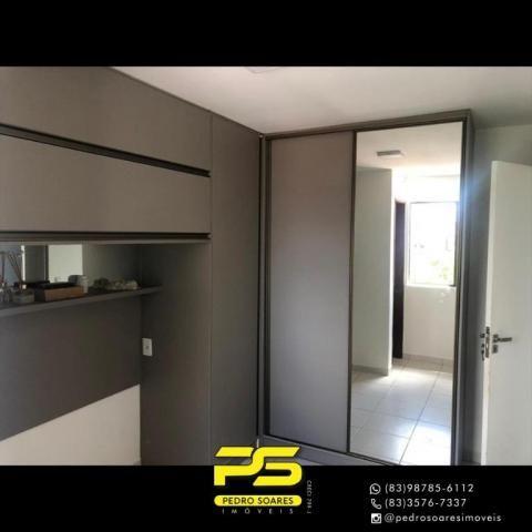 Apartamento com 2 dormitórios para alugar, 60 m² por R$ 1.700/mês - Altiplano Cabo Branco  - Foto 12