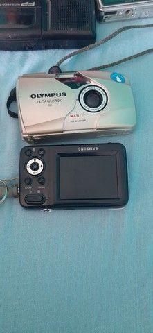 Vende se 4 máquinas fotográficas e um gravador duas máquinas funciona para colecionador