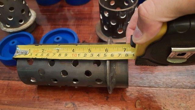 """Tubos de aço inox para fundição 3"""" X 18cm - Foto 4"""