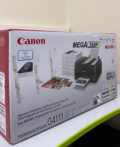Impressora Multifuncional Canon Mega Tank G4111, Jato de Tinta, Colorida, Wi-Fi, Bivolt