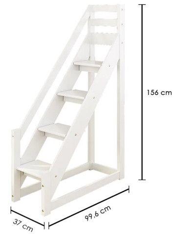 Beliche Infantil com Telhado/Escada/ Escorregador Casa Tema - Foto 6
