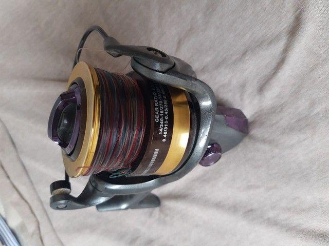 Vara de pescar pouco tempo de uso  - Foto 4