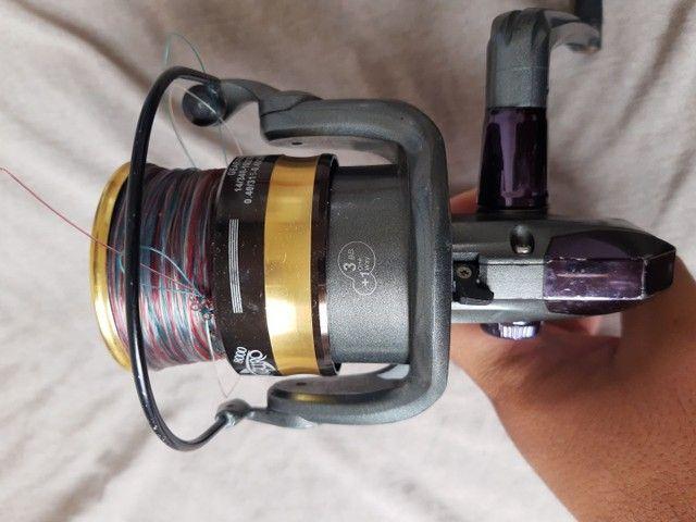 Vara de pescar pouco tempo de uso  - Foto 5