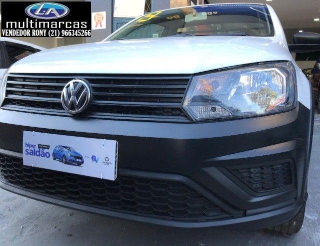 Vw VolksWagen Saveiro Robust 1.6 Comp. 2019. Entrada a partir de 9.500,00 + 699,99 Fixas.  - Foto 2