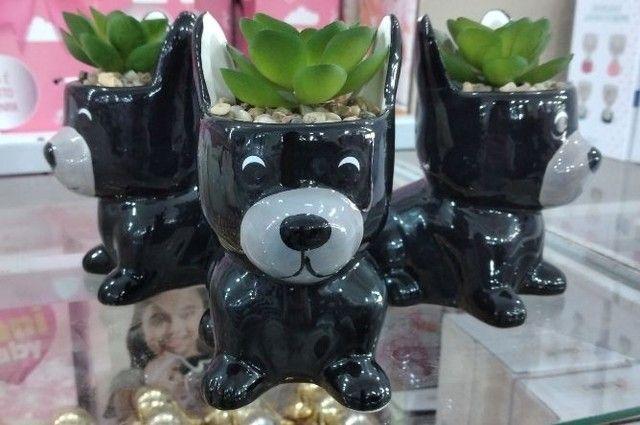 Enfeite Decorativo Cachorrinho feito em cerâmica  - Foto 3