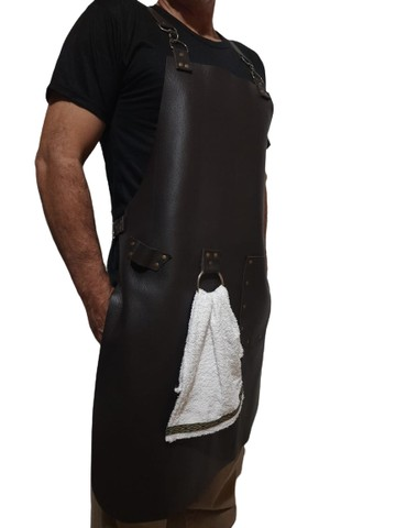Avental de couro com alças reguláveis - Foto 4