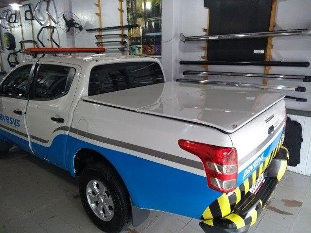 Tampao Aço Demovel elétrico HIlux Toro Ranger S10 Amarok SAveiro com instalacao - Foto 6