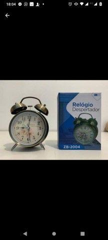 Relógio despertador retro super lindo e alto grande promoção - Foto 3