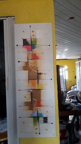 Quadros pintura em tela alto relevo estilo mosaico  - Foto 3