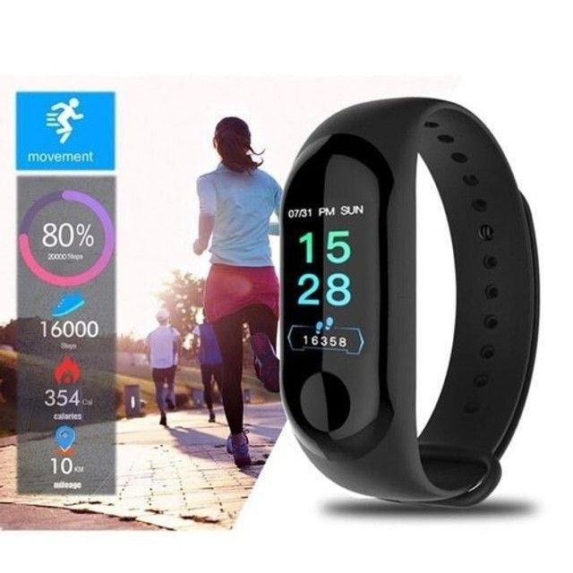 Smartband Relógio Pulseira Função App Celular M3